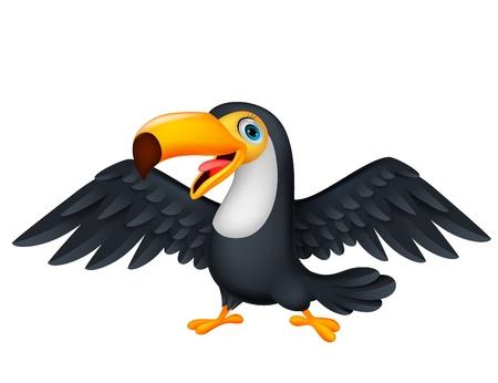 Nettes Toucan Vogel cartoon