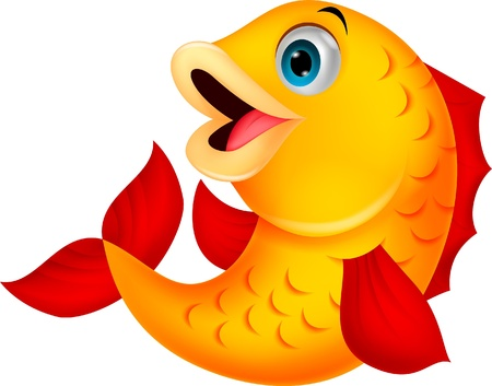 fish water: Cute fish cartoon Illustration
