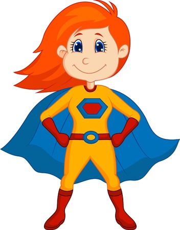 cartoon superhero: Superhero kid cartoon