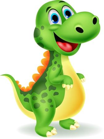 dinosaurio caricatura: Cute dibujos animados dinosaurio