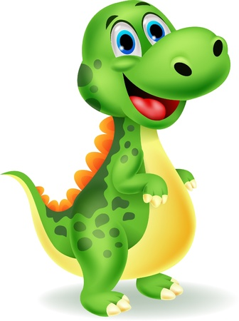 cartoon animal: Cute dinosaur cartoon