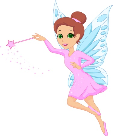 ballerina fairy: Cute fairy cartoon