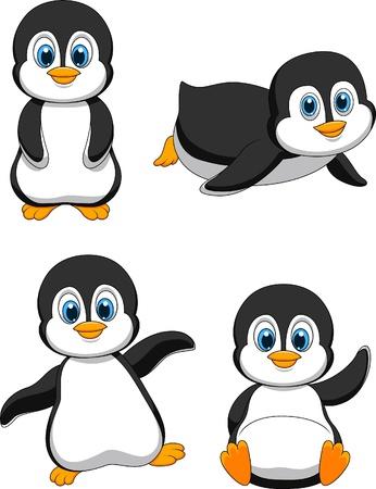 sevimli: Sevimli penguen karikatür