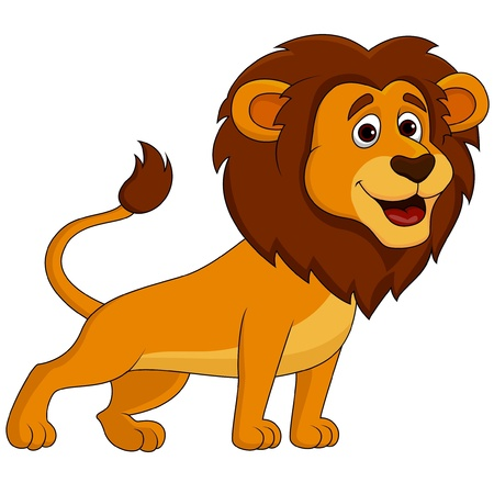 Cute lion cartoon Stock Vector - 19864793