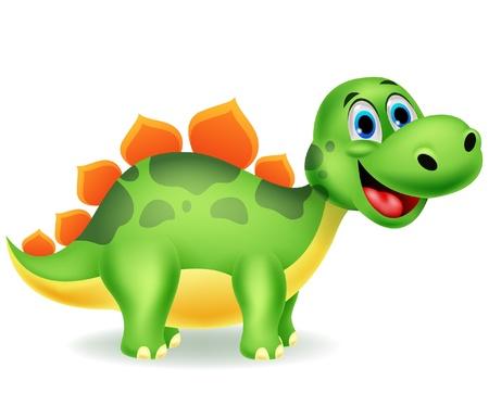 baby dragon: Cute dinosaur cartoon