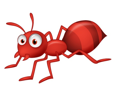 red ant: Cute ant cartoon