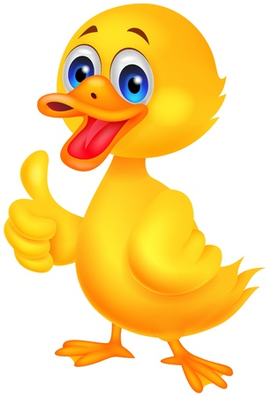 Duck cartoon thumb up Stock Vector - 19864926