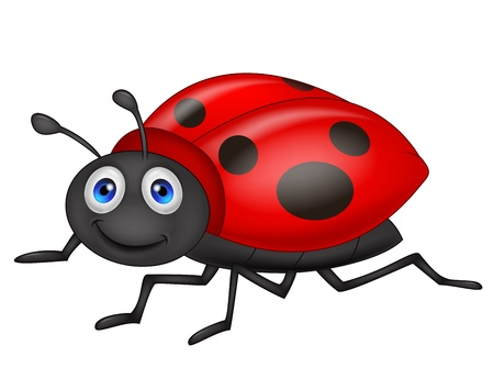Cute ladybug cartoon Stock Vector - 19864890
