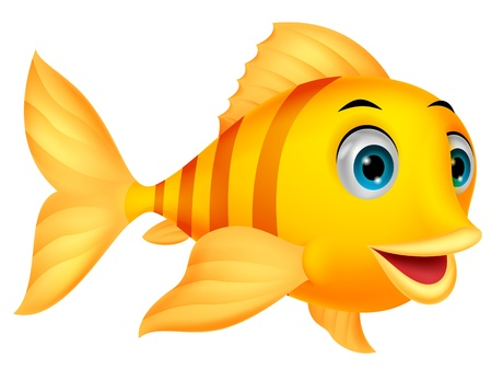 Cute fish cartoon Ilustrace