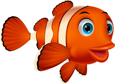 Bande dessinée de poissons clown mignon