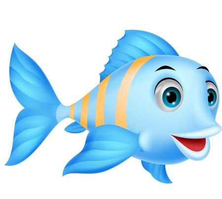 fins: Cute fish cartoon Illustration
