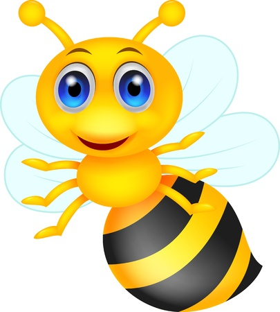 Cute bee cartoon Stock Vector - 19864888