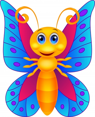 Funny butterfly cartoon Stock Vector - 19864876