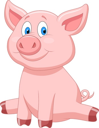 Cute pig cartoon Stock Vector - 20219461