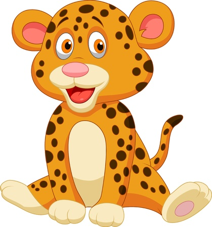Cute leopard cartoon Stock Vector - 20219412