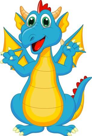 Cute dragon cartoon Stock Vector - 20219401