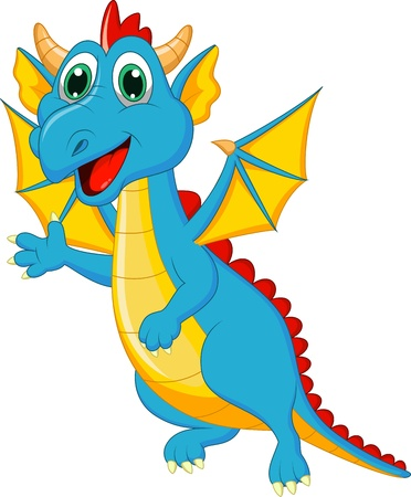 Cute dragon cartoon Stock Vector - 20219443
