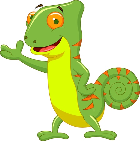 Chameleon cartoon Stock Vector - 20219436