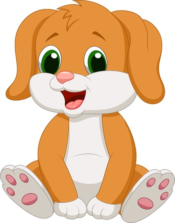Cute Baby hundecartoon Standard-Bild - 20219470