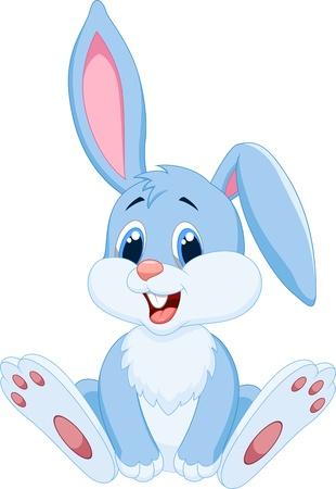 かわいいウサギの漫画  イラスト・ベクター素材