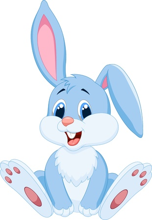 cute rabbit: Cute rabbit cartoon
