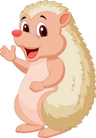hedgehog: Cute hedgehog cartoon Illustration