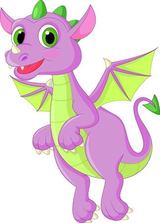 roztomilý: Roztomilý kreslený drak létání