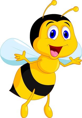 insecto: Linda abeja de la historieta Vectores