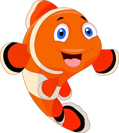 animali: Simpatico pesce pagliaccio del fumetto