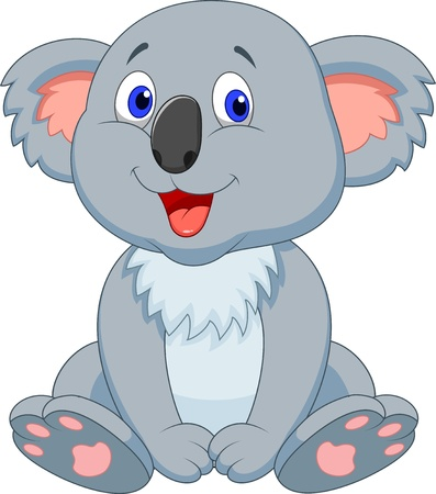 osito caricatura: Lindo koala de dibujos animados