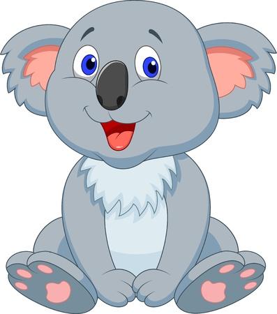 Schattige koala cartoon Stock Illustratie