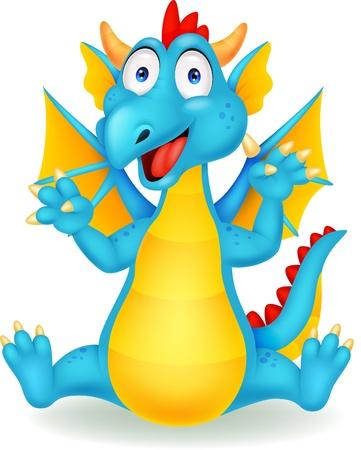 Cute dragon cartoon Stock Vector - 20754154