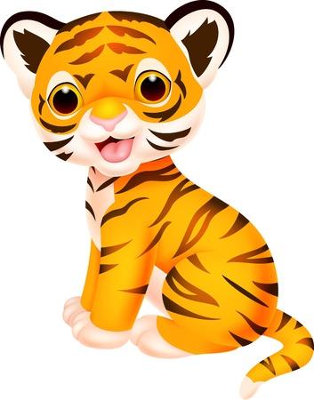 tigre cachorro: Lindo bebé tigre de la historieta