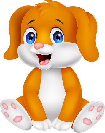 baby: Cute baby dog cartoon