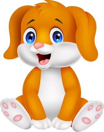 perro caricatura: Historieta linda del bebé del perro