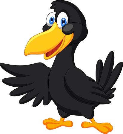 cartoon: Lindo agitar la historieta cuervo