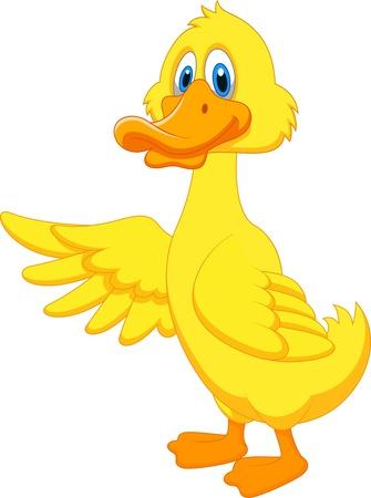 ducks: Cute duck cartoon waving