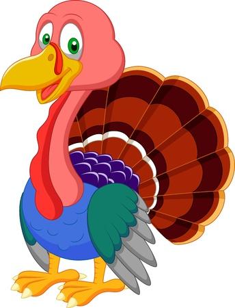 Cute turkey cartoon  Illustration