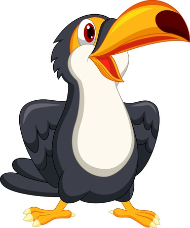Cute toucan bird cartoon  Illustration