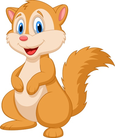 chipmunk: Cute squirrel cartoon