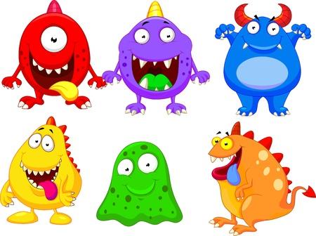 Colección de dibujos animados Monster Ilustración de vector