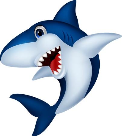 Shark cartoon Vetores