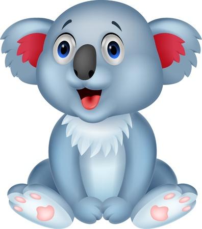 Schattige koala cartoon