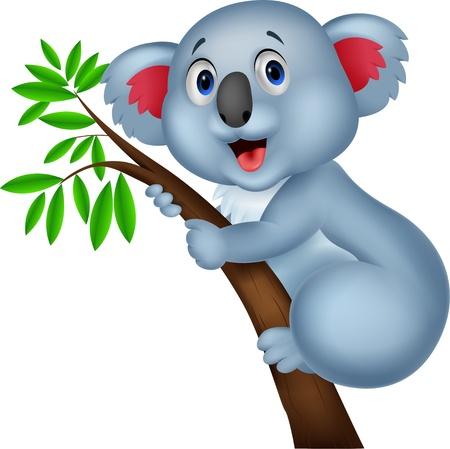 koalabeer: Schattige koala cartoon Stock Illustratie