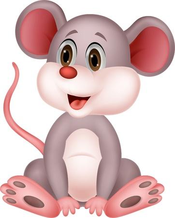 животные: Симпатичные карикатуры мыши Иллюстрация