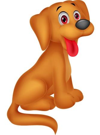 cartoon dog: Cute dog cartoon