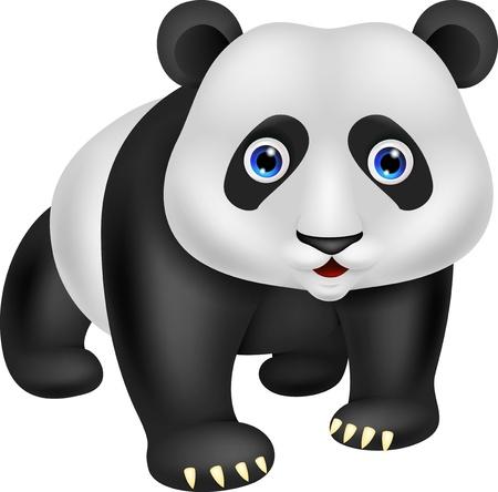 ourson: Dessin anim� mignon de panda Illustration