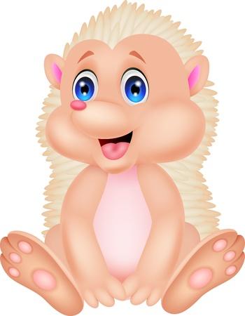hedgehog: Cute hedgehog cartoon