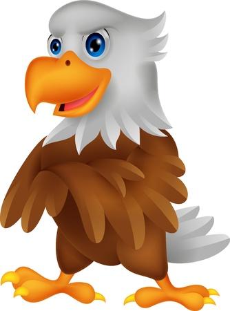 dignity: Cute eagle cartoon posing Illustration