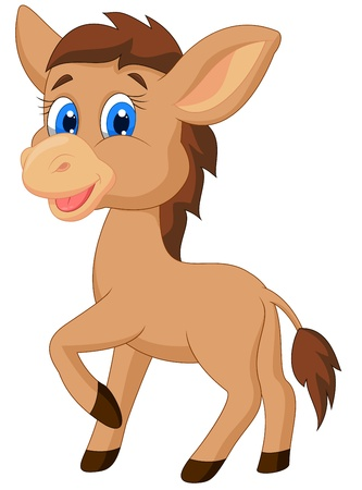 cartoon nose: Cute horse cartoon  Illustration